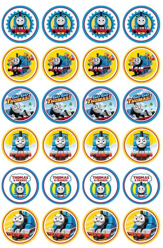 It is a graphic of Légend Free Printable Thomas the Train Cup Cake Toppers
