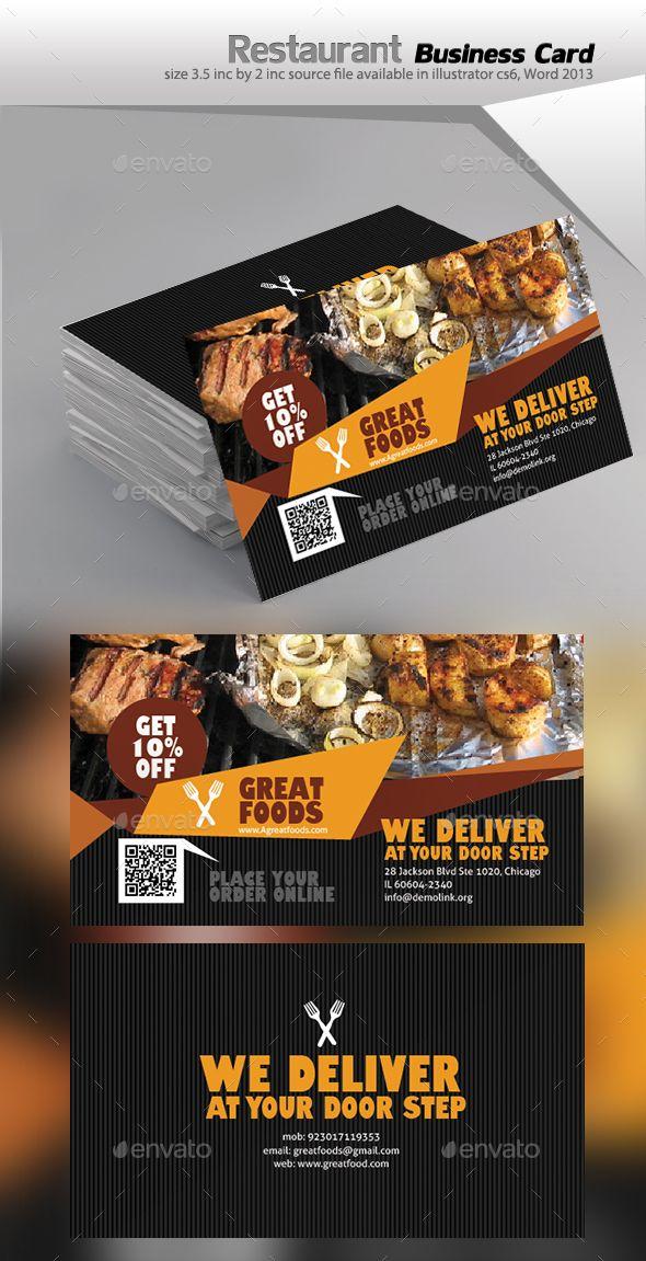 Restaurant business card vector eps service drink available restaurant business card vector eps service drink available here httpsgraphicriveritemrestaurant business card 17853361refpxcr reheart Gallery