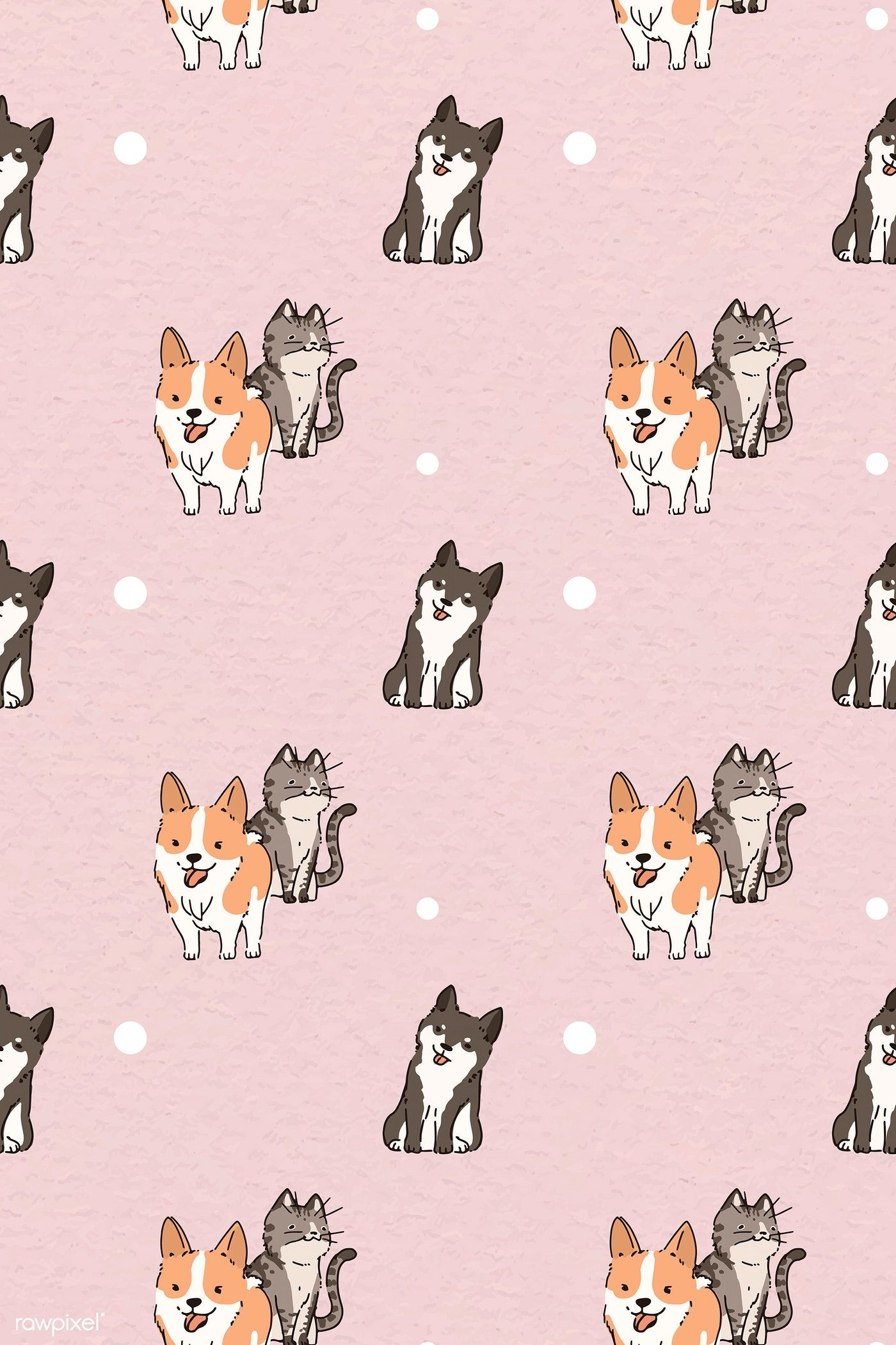 Download Premium Illustration Of Dog And Cat Lover Patterned