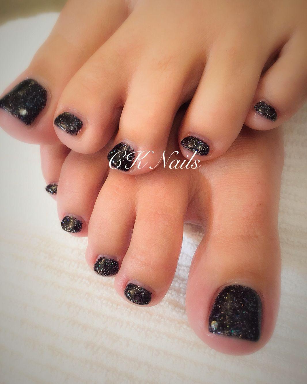 Gel pediaurora black pedicure paw print tattoo print