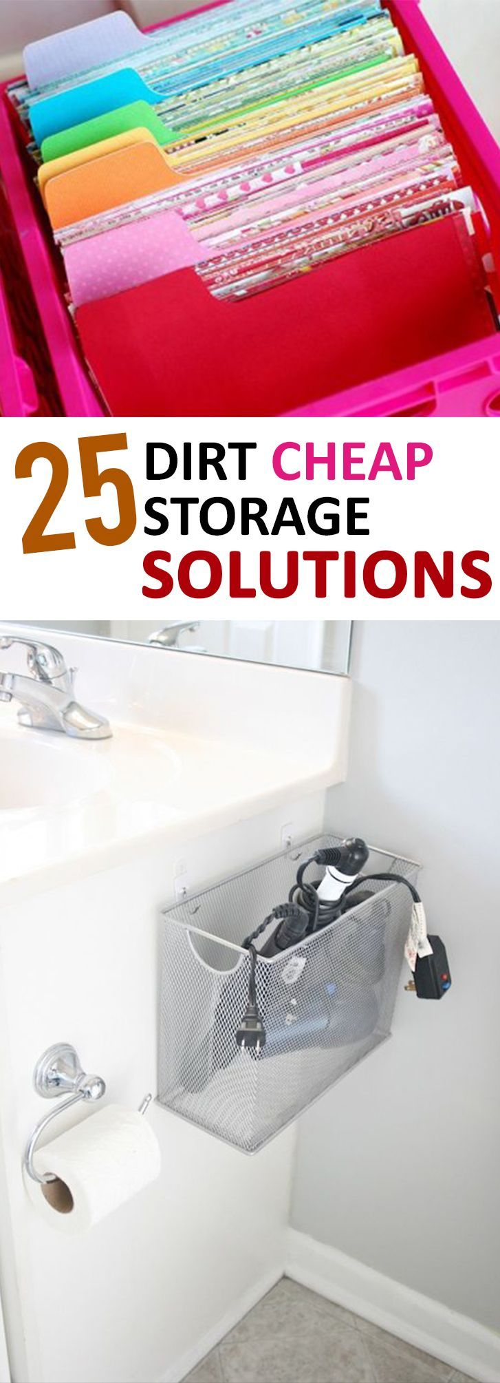 25 Dirt Cheap Storage Solutions Cheap storage, Diy