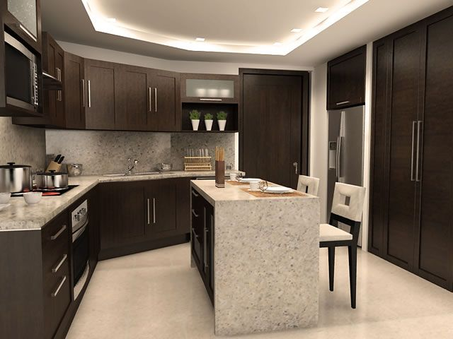 dark cabinets with light floors - Google Search | Kitchen ...