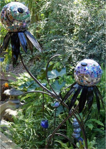Mosaic Garden Art -redo on a smaller scale?   Welded   Pinterest ...