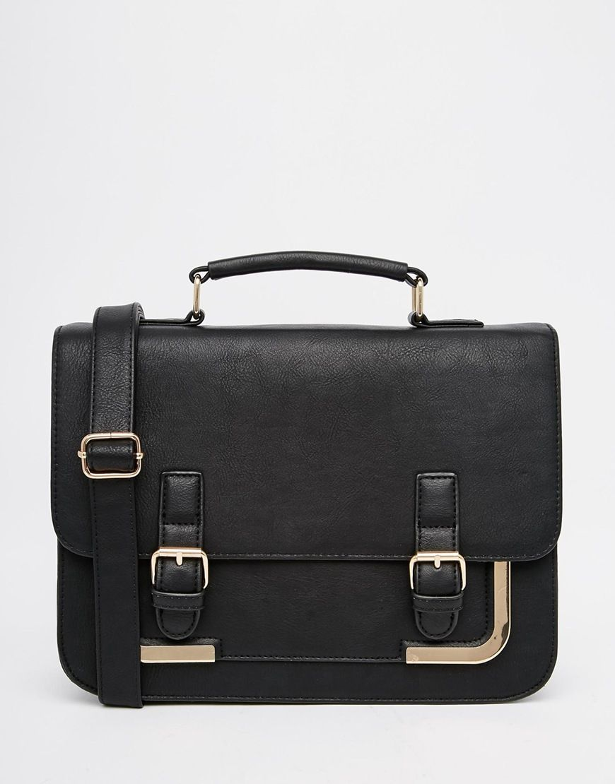 ASOS Metal Corner Satchel Bag at asos.com
