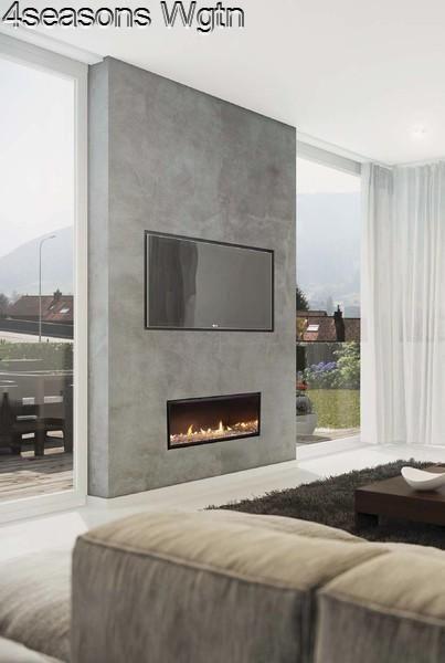 Escea DX1000 (Frameless Single Sided)  4seasons Wellington - chimeneas modernas