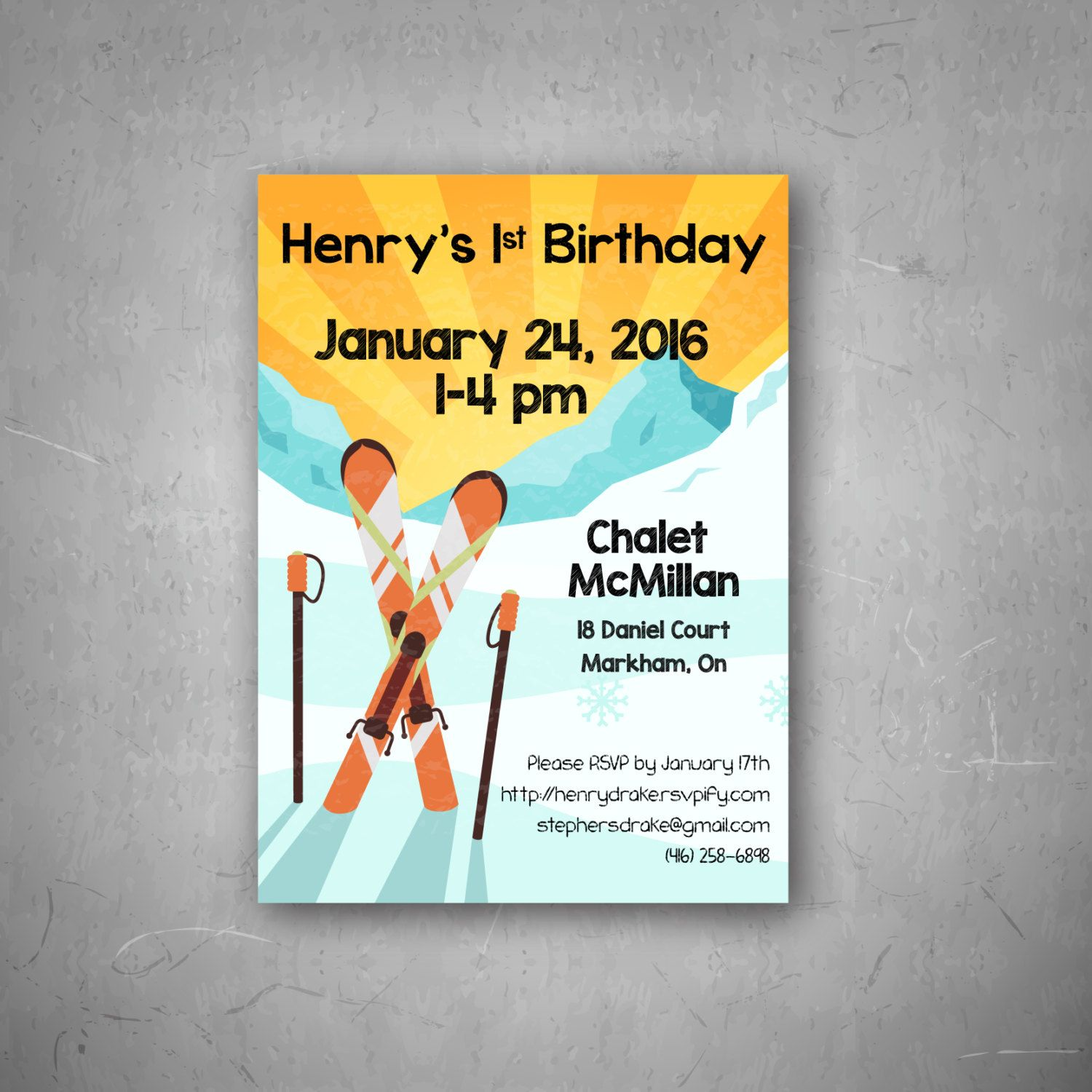 Apres Ski Birthday Party Invitation By Ondeckholdings On Etsy