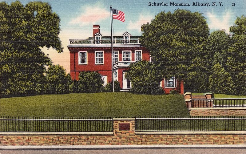 Schuyler Mansion Albany Ny 1940s Took Many A School Trip There