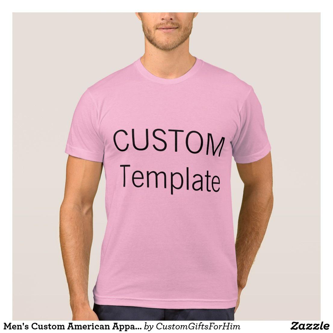 Design your own t shirt american apparel - Men S Custom American Apparel T Shirt Pink