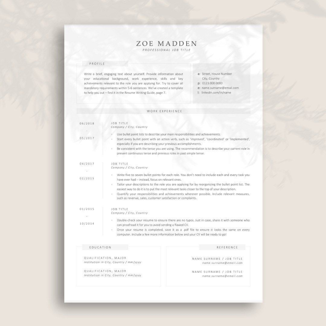 Resume Template for Marketing and Social Media Modern