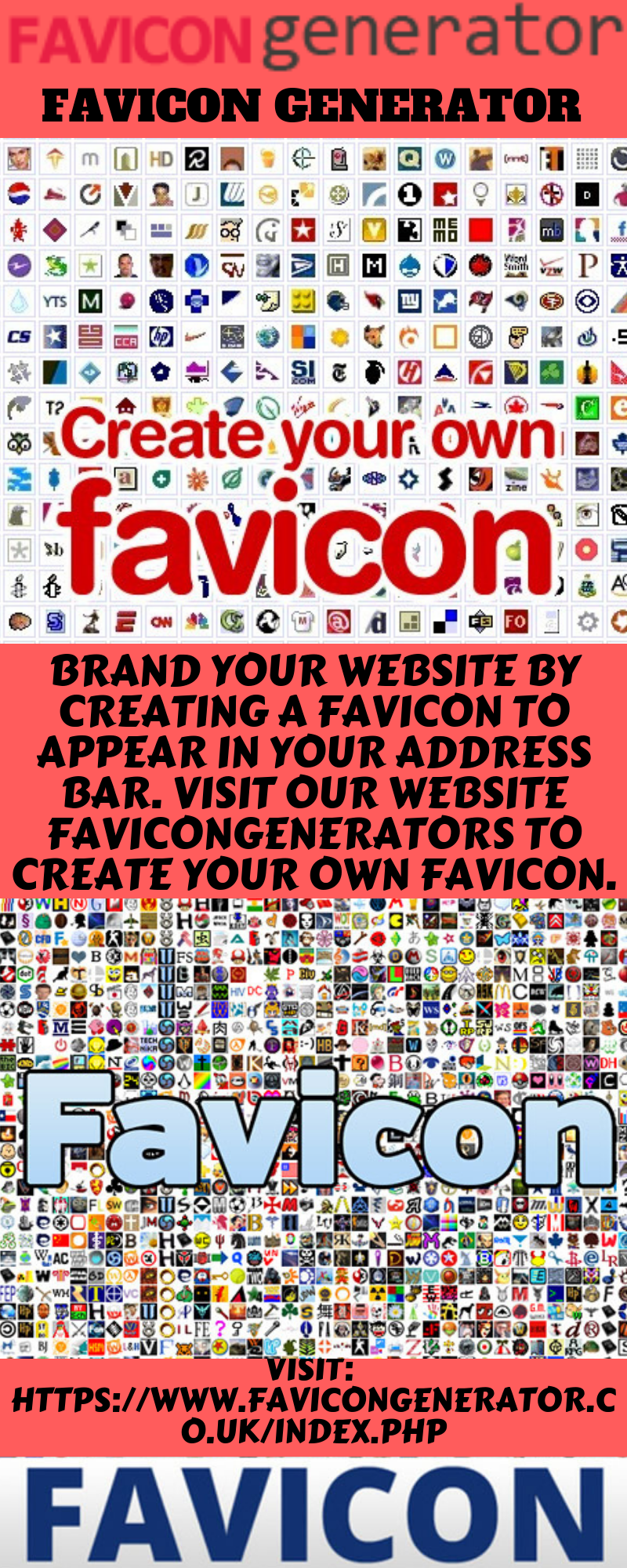 Favicon generator Brand your website by creating a favicon