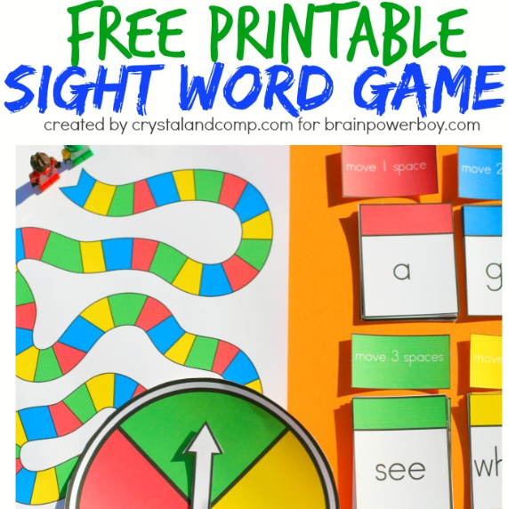 picture about Kindergarten Sight Word Games Printable named Printable sight phrase board recreation and a pin it occasion college