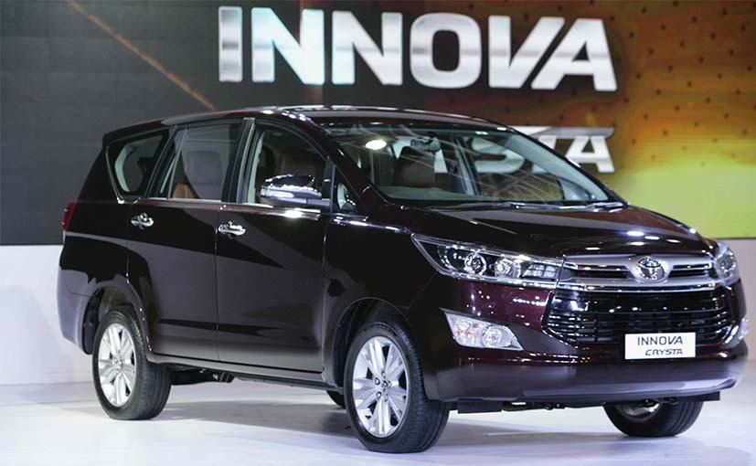 Innova Facelift Toyota Innova Crysta Launched At Inr 13 84 Lakh Toyota Innova Toyota Car
