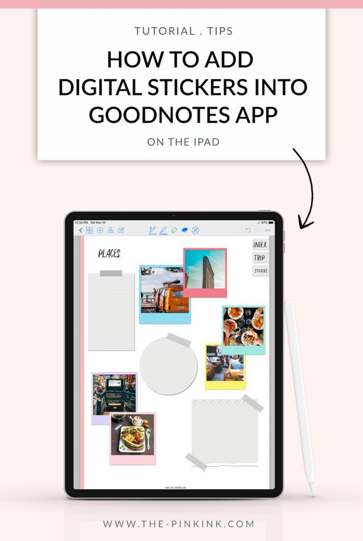 How to add Digital Stickers into Goodnotes app on the Ipad