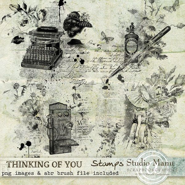 Thinking Of You - Stamps by Manuela
