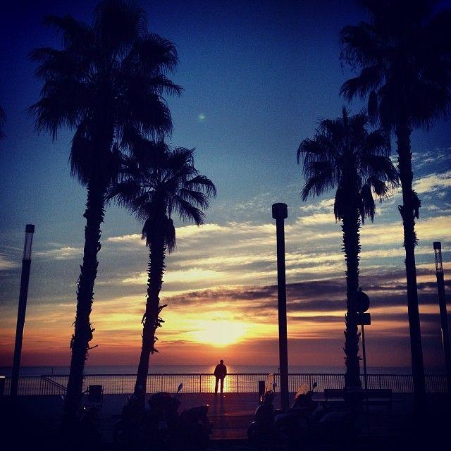 Sunrise in Barcelona, Spain