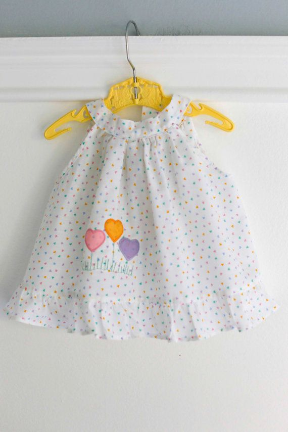 18 Months Heart Swing Top Vintage Baby Girl Clothing By Banana