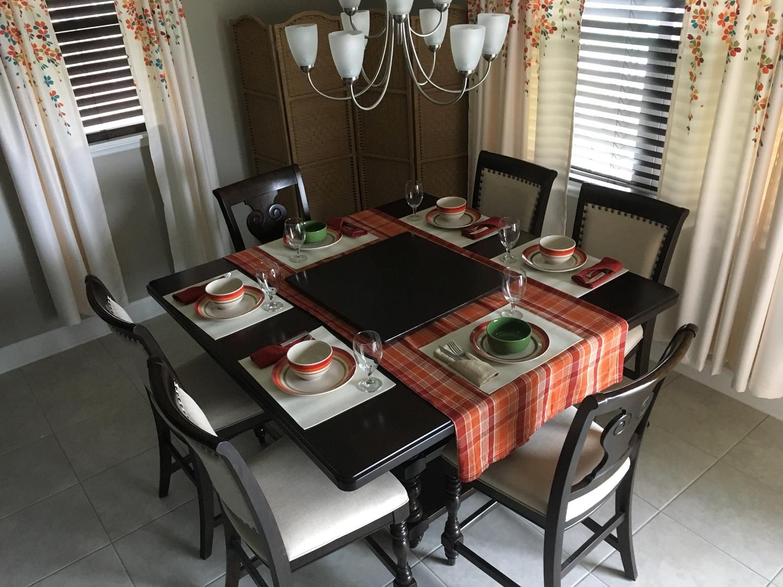 Square Lazy Susan For Square Dining Table 64 72 84 96 Table Or Larger Free Color Stain Matching Large 48 44 42 36 Sizes Square Dining Tables Square Kitchen Tables Square