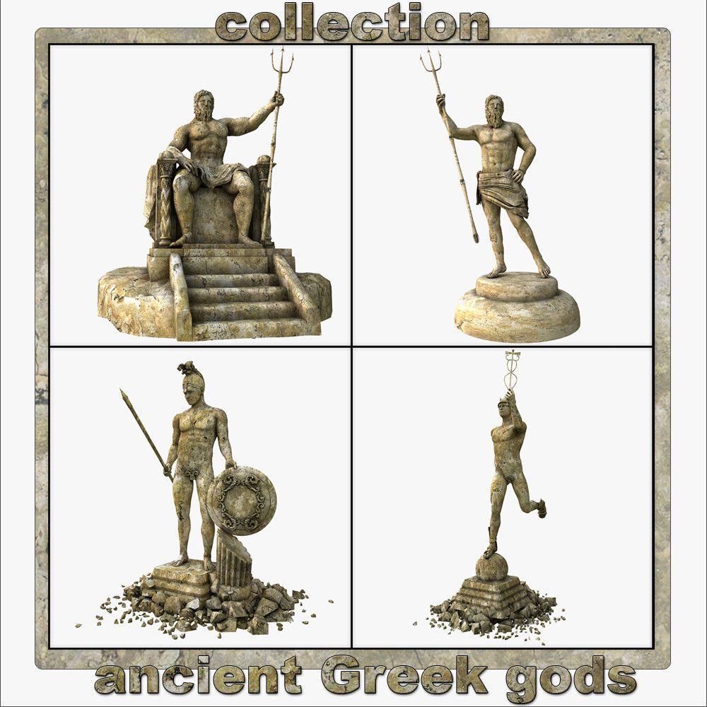 3Ds Max Ancient Greek Gods - 3D Model