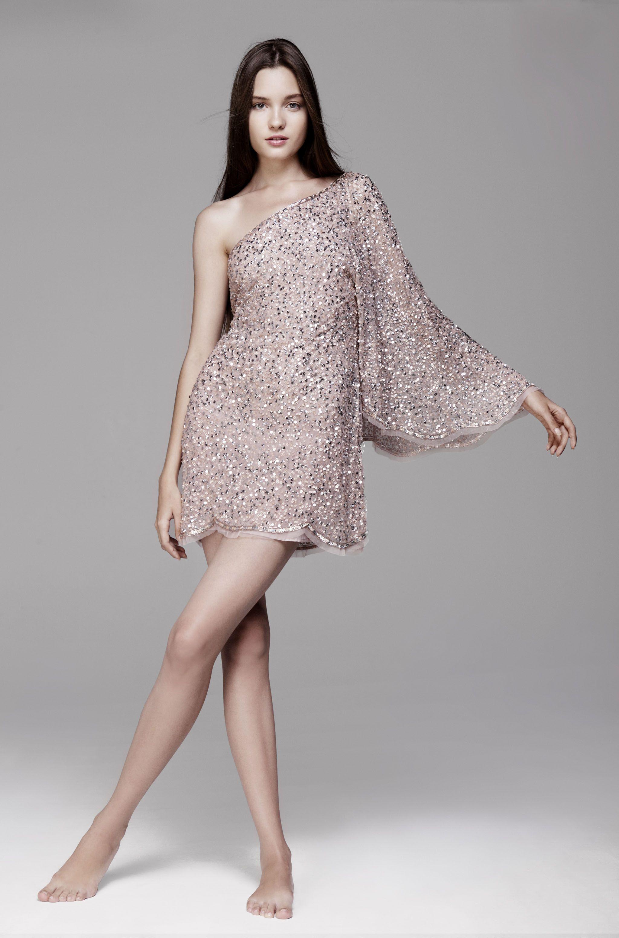 Vestido Corto Lentejuelas Short Dress Sequence Evening Look