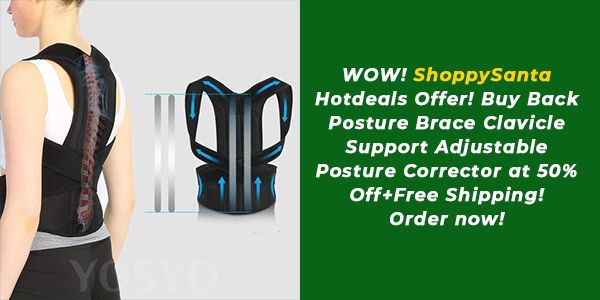 Back Posture Brace Clavicle Support Adjustable Posture Corrector! Hurry Up to Order now @50% Off+Fre...