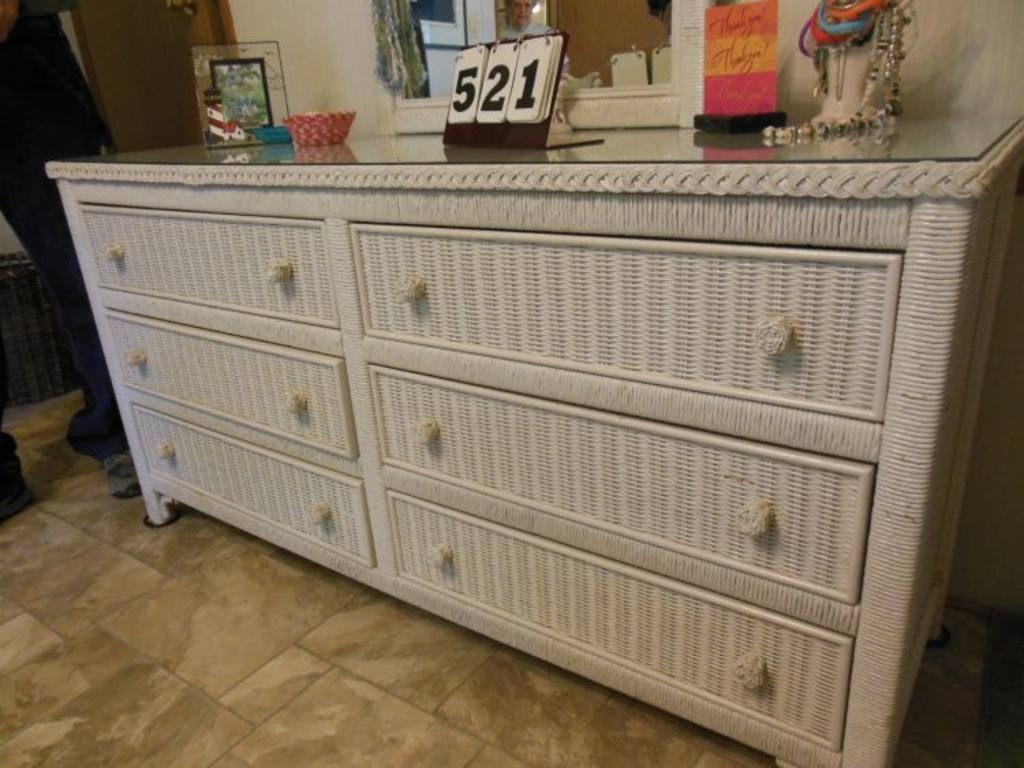 Painted A Wicker Dresser Wicker Dresser White Dresser Furniture Remodeling [ 768 x 1024 Pixel ]