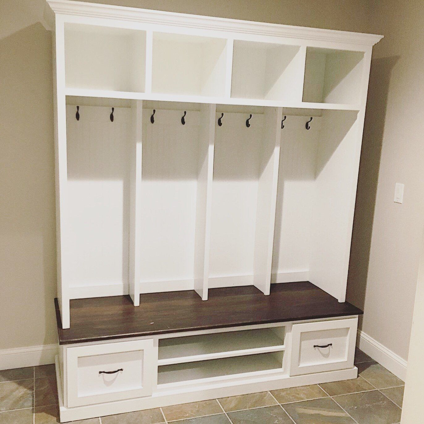 Ordinaire Mud Bench, Locker Unit, Hall Tree, Shoe Bench Made From Hardwood By  GriffinFurniture