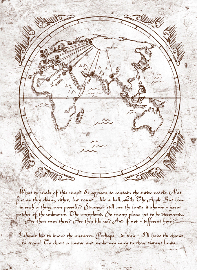 assassins creed codex pages map