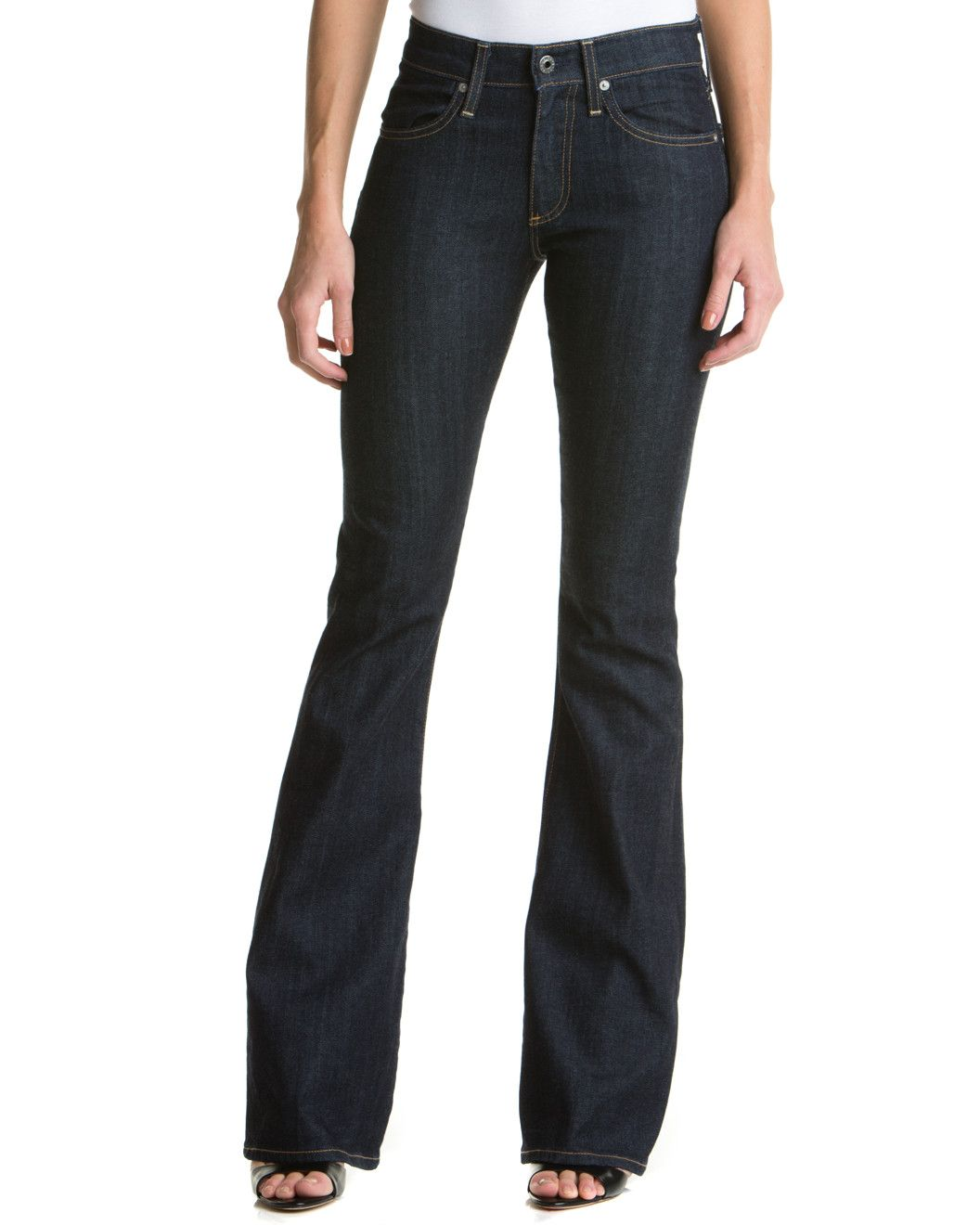 """Spotted this AG Jeans """"The Farrah"""" Met Flare Leg on Rue La La. Shop (quickly!)."""