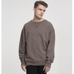 Herren Sweatshirt Urban Classics Oversized Open Edge Crew army green Urban Classics
