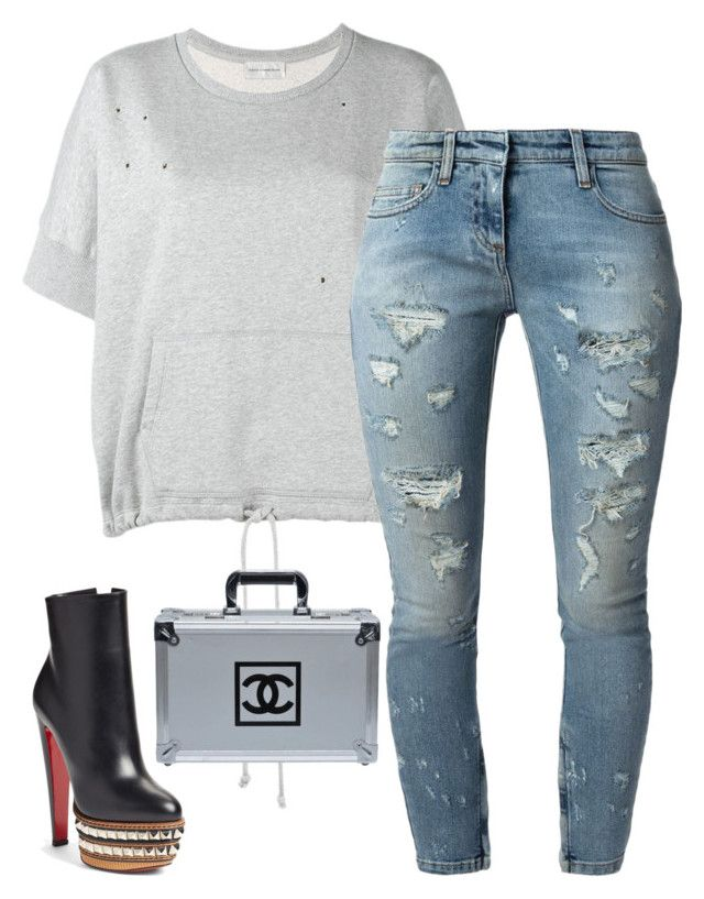 Untitled #5399 by stylistbyair on Polyvore featuring polyvore fashion style Faith Connexion Christian Louboutin Chanel clothing