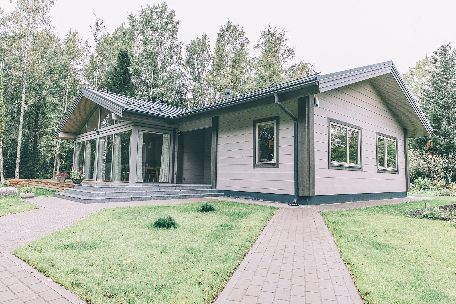 одноэтажные финские дома из клееного бруса фото вашему