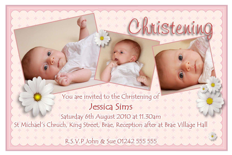 Invitation Card For Christening Invitation Card For