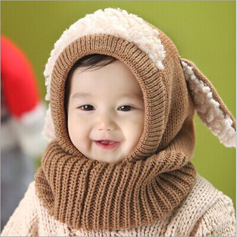 42e88021916 Click to Buy    5 Colors Hot Sale Winter New Baby Hat Wool Hat Winter Hat  Beanie Hat Hooded Scarf Earflap Knit Cap Toddler Cute  Affiliate. Baby  Girls Boys ...