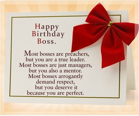 Birthday Wishes for Boss : Birthday messages, Images and quotes for Boss | Happy birthday boss, Birthday wishes for boss, Birthday message for boss