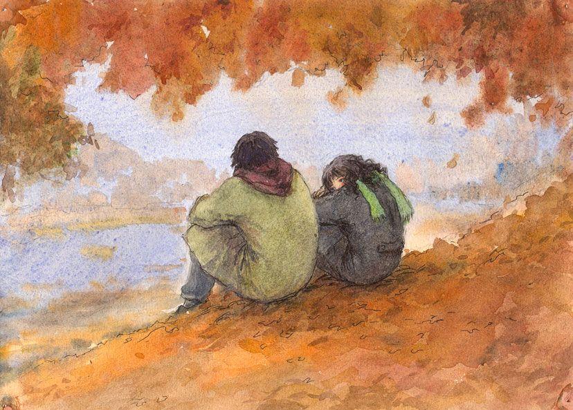 """Parlate di noi giovani, ci condannate, ma non sapete che per un amico che muore, siamo capaci di piangere sui nostri jeans strappati e dietro ai nostri capelli lunghi sappiamo ricordarlo. Noi non abbiamo paura di morire, perché sappiamo che qualcuno piangerà per noi, i nostri amici sbandati e non di certo voi, persone """"civili"""" che non avete nemmeno il tempo di piangere. _ Jim Morrison _  (Autumn by t-a-t-k-a.deviantart.com on @DeviantArt)"""