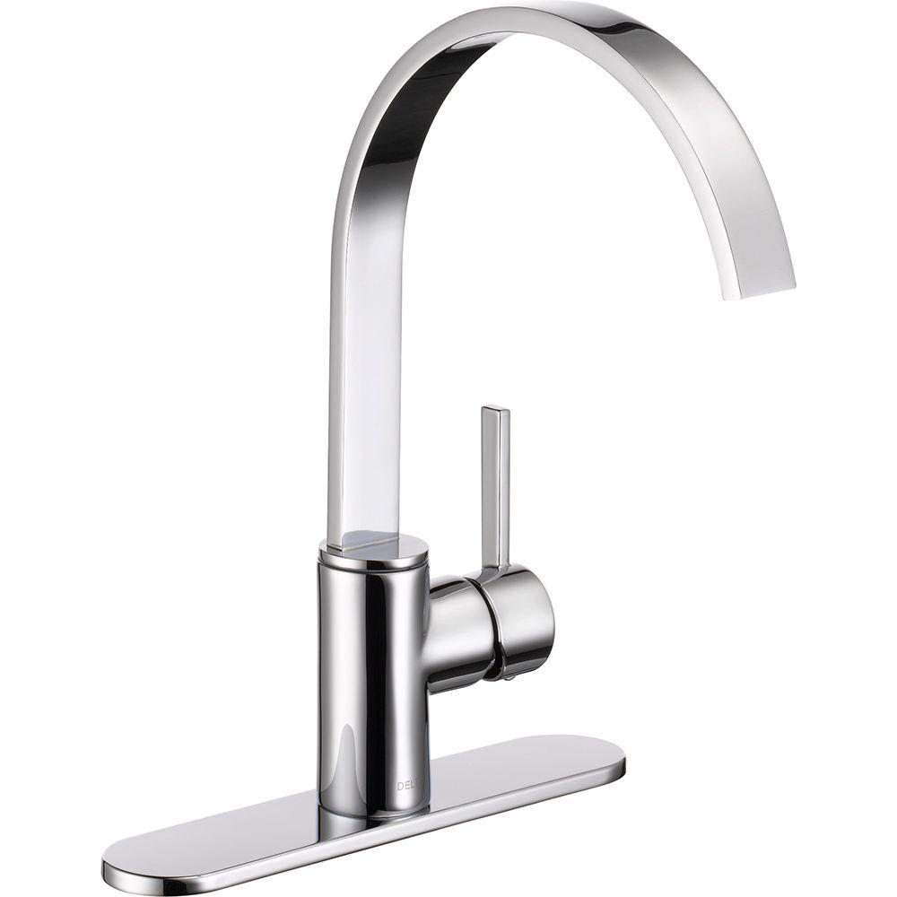 Delta Mandolin Single-Handle Standard Kitchen Faucet in Chrome ...