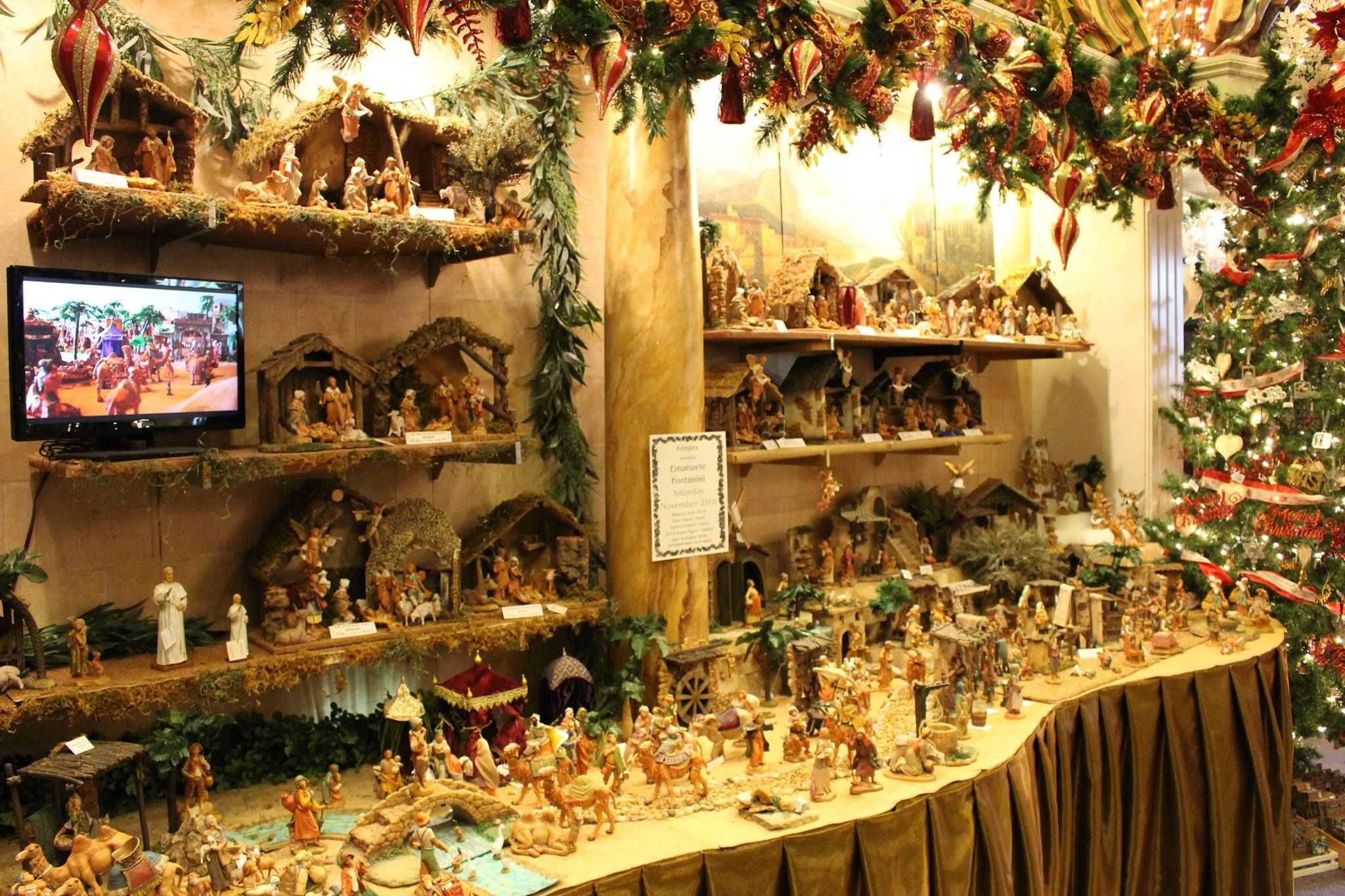 Emanual Fontannini from Italy and his unique Christmas Nativity at Kringles shop!