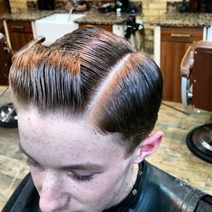 Slick Haircut With A Quiff Slick Hairstyles Kids Hairstyles Classic Hairstyles