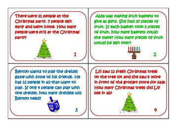 Holiday Addition And Subtraction Scoot Addition And Subtraction Holiday Subtraction