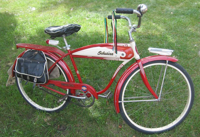 f7e7802dc59 1956 B.F.Goodrich Schwinn Hornet Bicycle.Benjamin Franklin Goodrich began  manufacturing solid rubber bicycle tires in the 1880s.