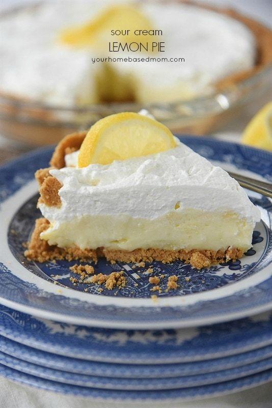 Heavenly Sour Cream Lemon Pie Recipe Your Homebased Mom Recipe Sour Cream Lemon Pie Recipe Lemon Sour Cream Pie Lemon Pie Recipe