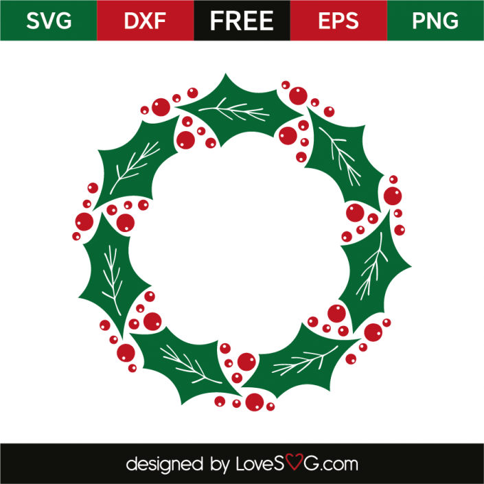 Mistletoe wreath Christmas svg, Christmas drawing