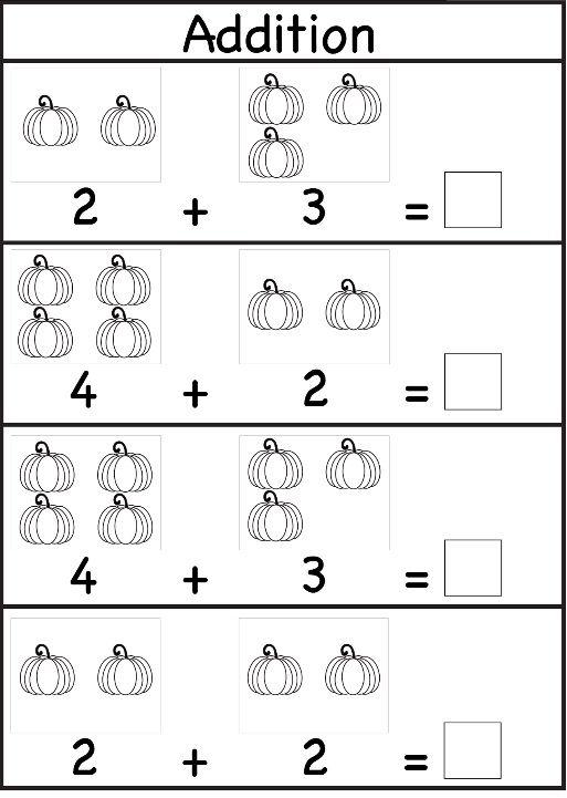 Addition Worksheet For Preschool And Kindergarten Preschool And
