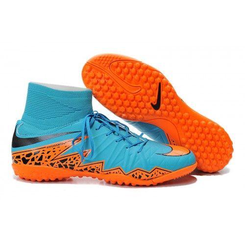 new arrivals b5f44 e3d34 Women Nike Hypervenom II Phantom Premium TF High Blue Orange Black,www. cheapshoesoccer.com