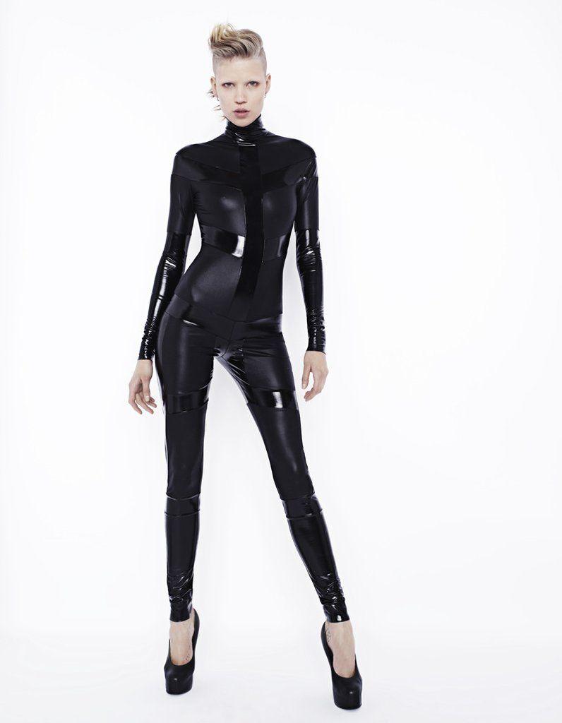 Skeleton Catsuit Black on Black