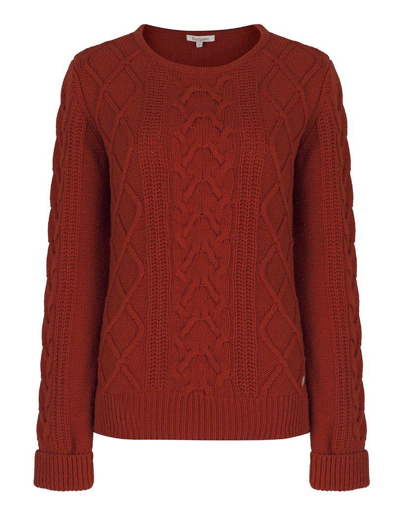 2e381331aec9da Barbour Women's Tidewater Knit Jumper - Burnt Orange LKN0637OR74 ...