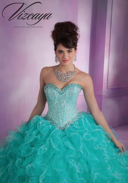 Vizcaya Quinceanera Ruffle Skirt Dress 89016 | 2015 Prom Dresses ...