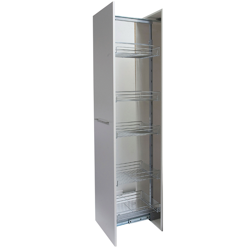 Kimberley Products 400mm Adjustable Sliding Shelf Pantry Unit Sliding Shelves Pull Out Pantry Shelves