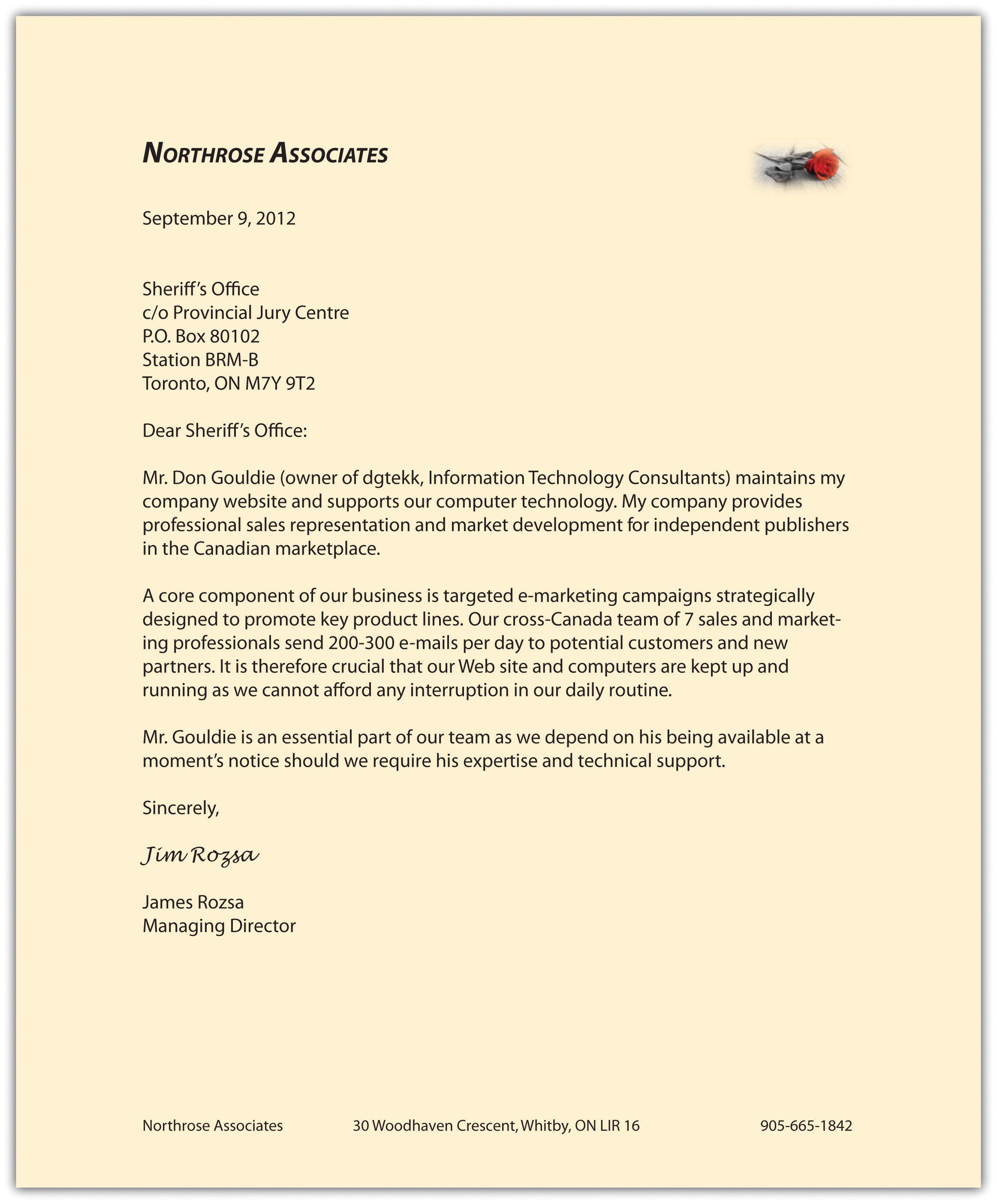 Formal Business Report Sample Business Communication For Success Canadian Edition Flatworld Letter .