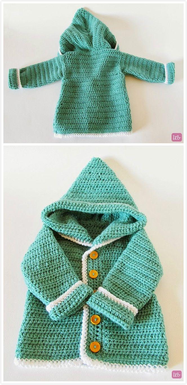 Make this cute baby hooded cardigan! | Yarn It. | Pinterest | Häkeln ...